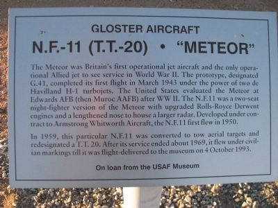 "N.F.-11 (T.T.-20) - ""Meteor"" Marker Photo, Click for full size"