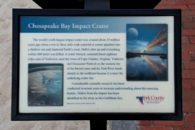 Chesapeake Bay Impact Crater Marker image. Click for full size.