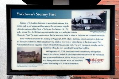 Yorktown's Stormy Past Marker image. Click for full size.