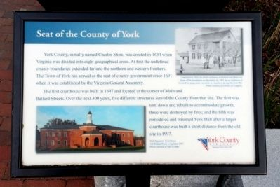 Seat of the County of York Marker image. Click for full size.