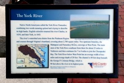The York River Marker image. Click for full size.