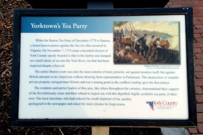 Yorktown's Tea Party Marker image. Click for full size.
