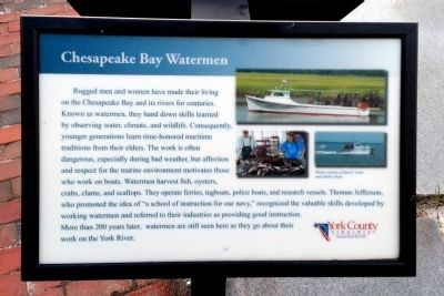 Chesapeake Bay Watermen Marker image. Click for full size.