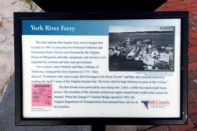 York River Ferry Marker image. Click for full size.