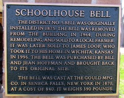 Schoolhouse Bell Marker image. Click for full size.