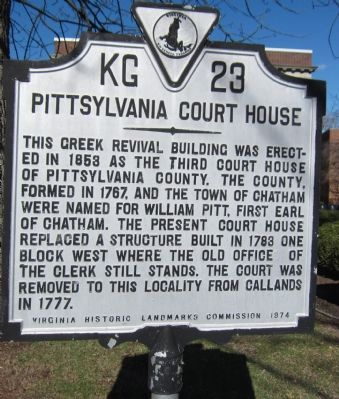 Pittsylvania Court House Marker image. Click for full size.
