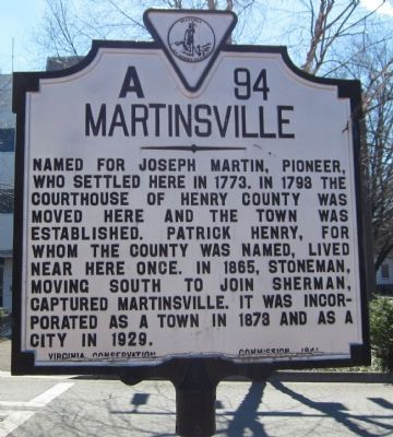 Martinsville Marker image. Click for full size.