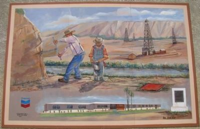 Oildale Waits Drilling Company Mural image. Click for full size.