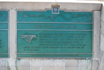 Upper Steel Arch Bridge Marker image. Click for full size.