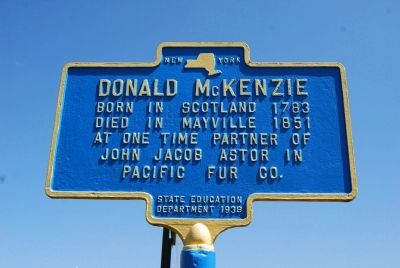 Donald McKenzie Marker image. Click for full size.