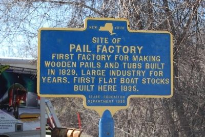 Site of Pail Factory Marker image. Click for full size.