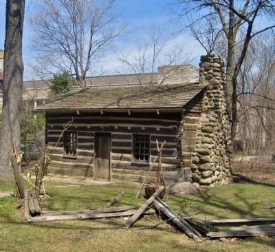 The Francis Stupey Log Cabin image. Click for full size.