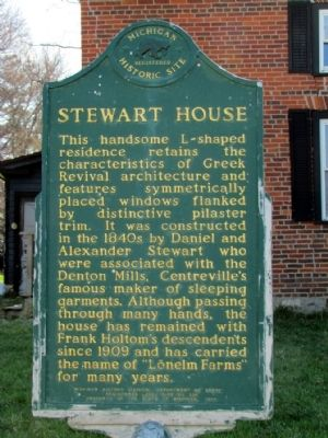 Stewart House Marker image. Click for full size.