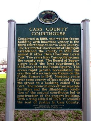 Cass County Courthouse Marker image. Click for full size.