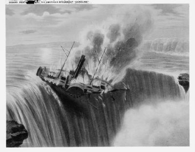 "<i>Destruction of the American Steamboat ""Caroline""</i> image. Click for full size."
