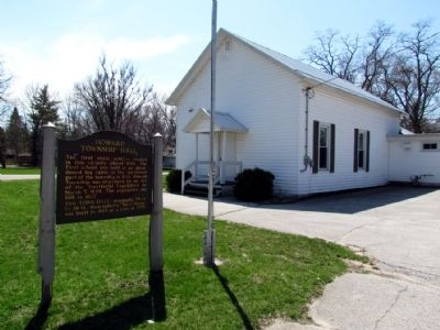 Howard Township Hall image. Click for full size.