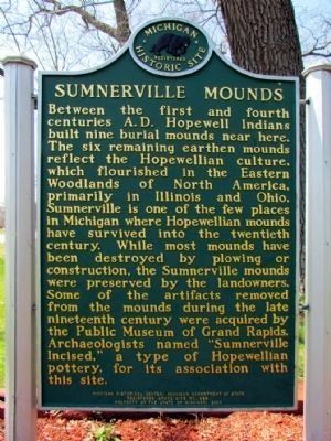 Sumnerville Mounds Marker Photo, Click for full size