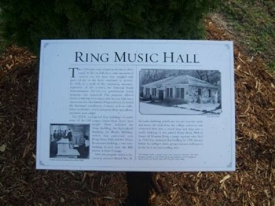 Ring Music Hall Marker image. Click for full size.
