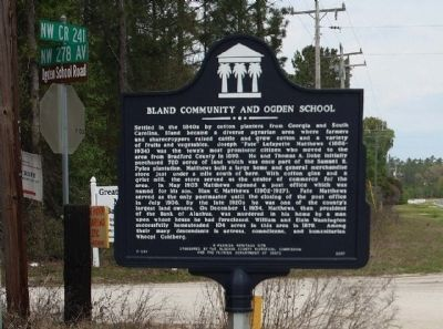 Bland Community and Ogden School Marker image. Click for full size.