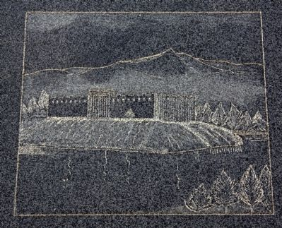 Image of Fort Pueblo Etched on the Monument image. Click for full size.
