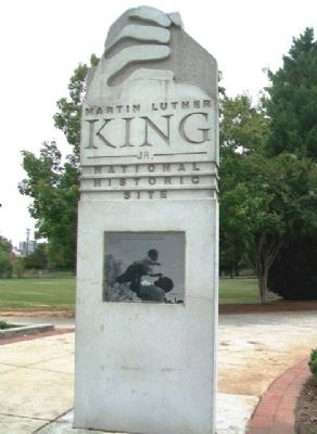 Martin Luther King, Jr. National Historic Site Marker image. Click for full size.