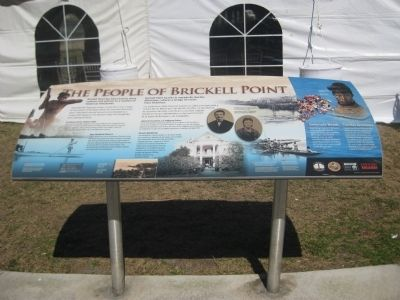 The People of Brickell Point Marker image. Click for full size.