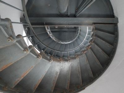 Point Arena Lighthouse Stairway image. Click for full size.
