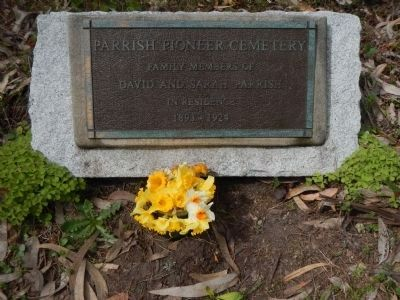 Parrish Pioneer Cemetery Plaque image. Click for full size.
