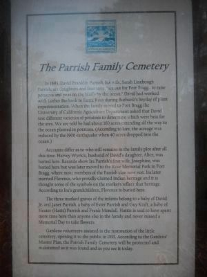 The Parrish Family Cemetery Marker image. Click for full size.