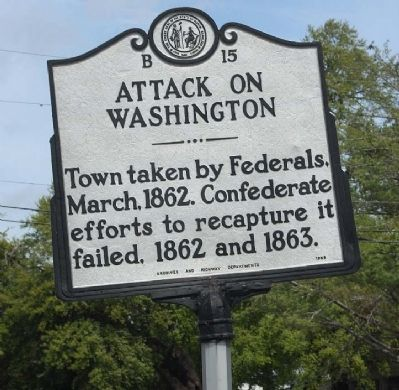 Attack On Washington Marker image. Click for full size.