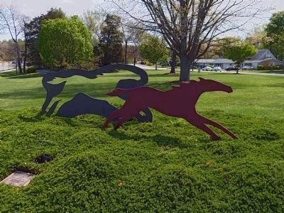 Horse Race Sculpture image. Click for full size.