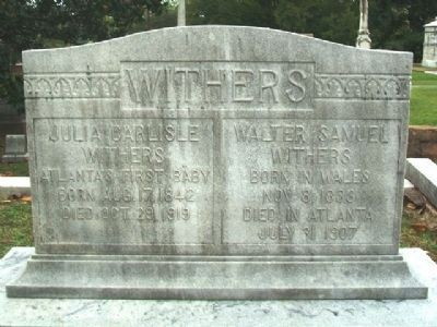 Julia Carlisle Withers Monument image. Click for full size.