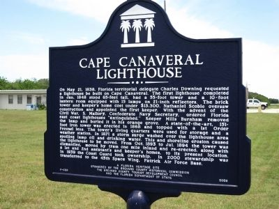 Cape Canaveral Lighthouse Marker image. Click for full size.