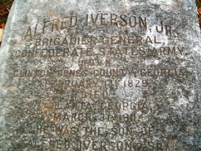 Alfred Iverson, Jr. Marker Detail image. Click for full size.