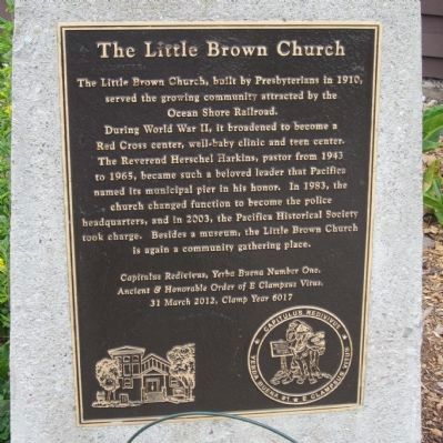 The Little Brown Church Marker image. Click for full size.