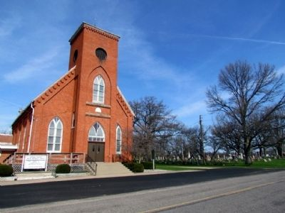 Portage Prairie United Methodist Church and Portage Prairie Cemetery image. Click for full size.
