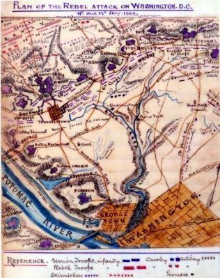 Plan of the Rebel Attack on Washington image. Click for full size.