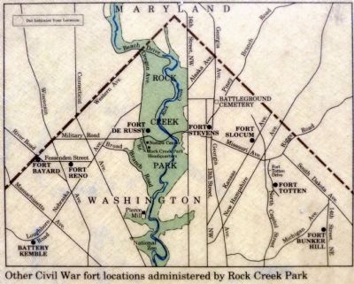Map of Civil War Forts Photo, Click for full size
