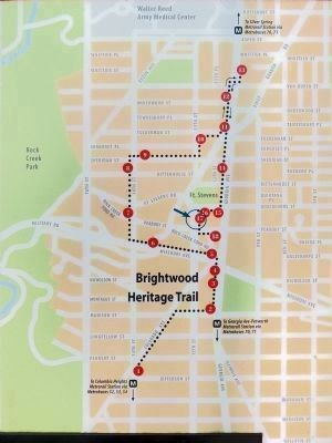 Map<br>Brightwood Heritage Trail image. Click for full size.