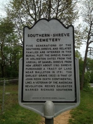 Southern-Shreve Cemetery Marker image. Click for full size.