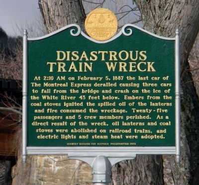 Disastrous Train Wreck Marker image. Click for full size.