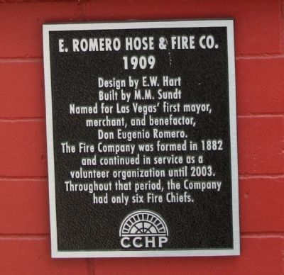 E. Romero Hose & Fire Co. Marker image. Click for full size.