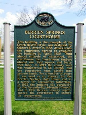 Berrien Springs Courthouse Marker image. Click for full size.