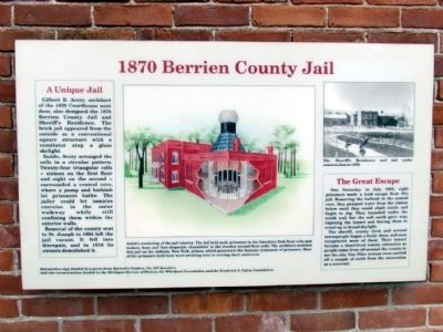 1870 Berrien County Jail Marker image. Click for full size.
