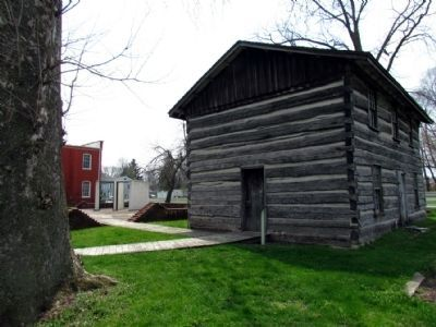 Jail Site next to the Murdock Log House image. Click for full size.