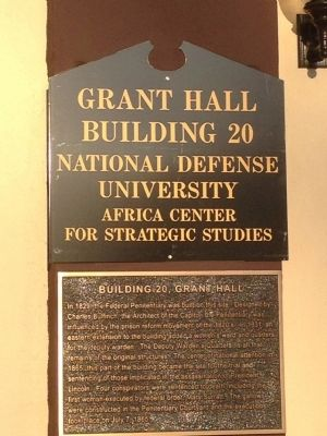 Building 20, Grant Hall Marker image. Click for full size.