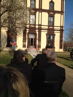 Dedication ceremony for renovation of Grant Hall image. Click for full size.
