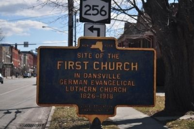 Site of the First Church Marker image. Click for full size.