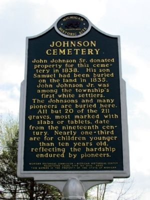 Johnson Cemetery Marker image. Click for full size.