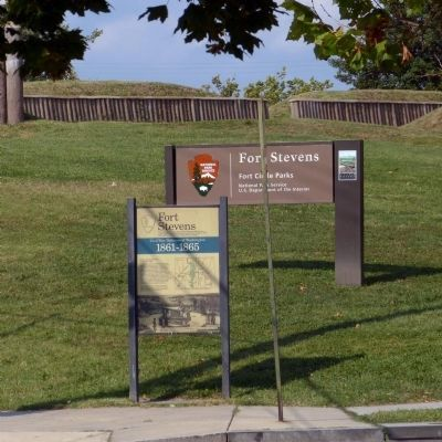 Fort Stevens Marker Photo, Click for full size